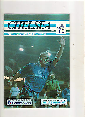 1991  League Cup Semi Final--------Chelsea v Sheffield Wednesday