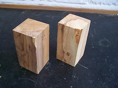 17. Yew - 2no - Spindles / Goblets - Woodturning / Crafts / WHY