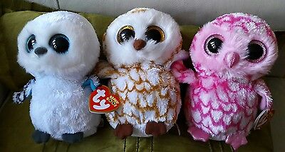 TY beanie boo owl bundle ( pinky, spells and ?)