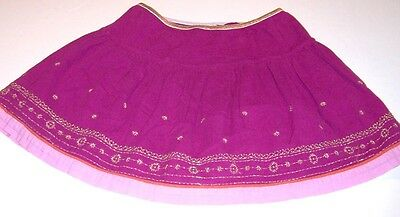 OLD NAVY~Purple 2-layer Skirt~GIRLS SIZE L/12~ORNATE DESIGN