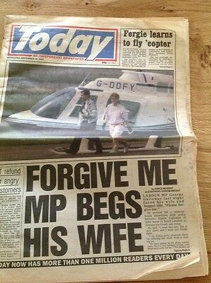 Vintage Newspaper TODAY 16th September 1987 Fergie
