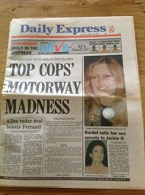 Vintage Newspaper DAILY EXPRESS January 23rd 1990