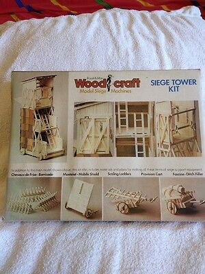 Wood Craft, Build Your Own Siege Tower Model Kit
