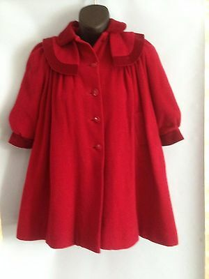 Vintage Child's Coat Adorable Red