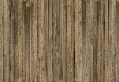 Brown Wood Plank Pattern Wallpaper XXL Mural with Glue & Instructions Wall Decor