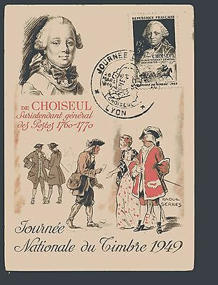 SUPERBE CARTE MAXIMUM  fdc JOURNEE DU TIMBRE 1946