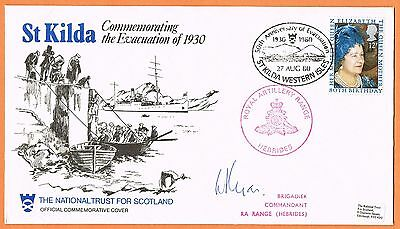 Great Britain 1980 St Kilda Evacuation signed cover