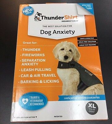 NEW Thundershirt EX. LARGE Dog Anxiety Solution Heather Grey 65-110LBS HGXL-T01
