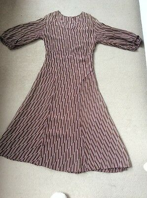 Silk Dress Brown 1960's True Vintage