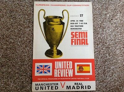 Munich Season United v Real Madrid 1968 European Cup Semi Final.