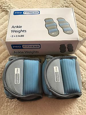 NEW ANKLE WEIGHTS 2.5lbs 1.1kg BOXED LADIES MENS WEIGHT TRAINING FITNESS