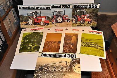 IH International tractor & implement sales brochure collection 1970s x 8 items