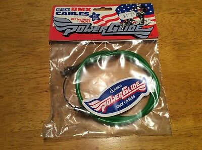 old school bmx NOS clarks power glide front brake cable green