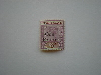 Leeward Islands mint Victoria overprinted one penny on 6d stamp
