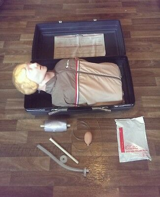 Laerdal Resusci Anne CPR lifesaving mannequin training aid, case, jacket, spares