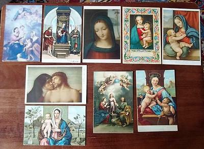 VINTAGE POSTCARDS,LOT OF 9, RELIGIOUS SUBJECTS, c1910-20s