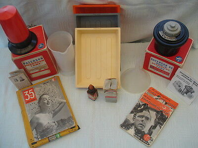 Vintage Paterson Darkroom Equipment 8 Items+Books Made In England Original Boxes