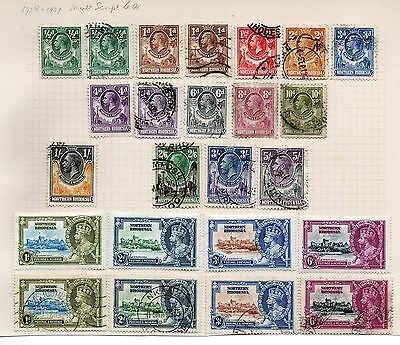 Northern Rhodesia 1925-1935 George V Set To 5/- Used + 1935 Silver Jubilee