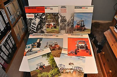 David Brown tractor & implement brochure collection 1980s x 8 items
