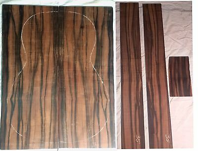 fondo e fasce MAKASSAR EBONY massello High quality Solid wood back & side guitar