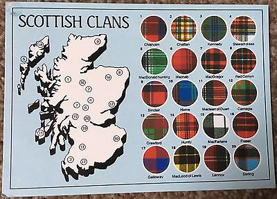 Old Postcard of Scottish Clans 1986 Scotland Tartan