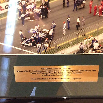F1 Grand prix before the race framed photo 1997