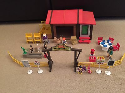 Playmobil 3775 Pony Ranch c/w Figures & Accessories