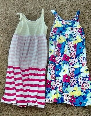 Lot of 2 Kids Girls Medium 7/8 Dresses Gymboree sleeveless long flowy  cotton