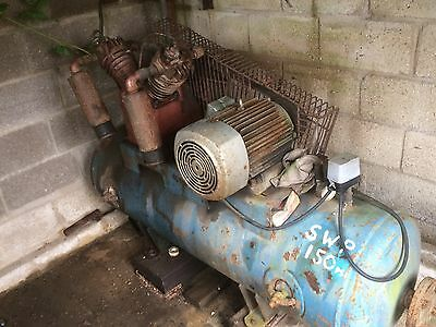 Large Working Sherry Industrial Air Compressor In Good Working Order