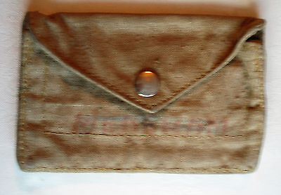 GPO Small Pouch; 1963 Vintage Post Office/Royal Mail cash/stamps canvas/cloth