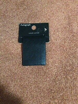 M&S Autograph - Leather Card Holder - New