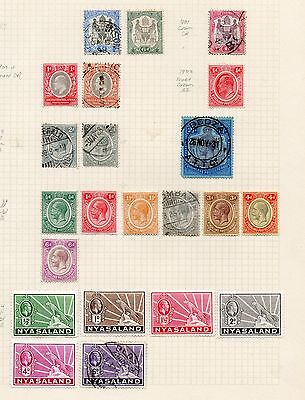 NYASALAND 1897-1934 COLLECTION TO 2/- INCL SG46 6d BLACK & GREEN - MINT & USED