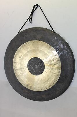 "BNIB WUHAN 28"" Hand-Heated, Lathed, Hammered & Tuned Rimmed Bronze Chau Gong"