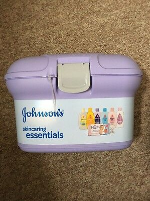 New - Johnson's Baby Essentials Purple Box with 8 Items.RRP £20