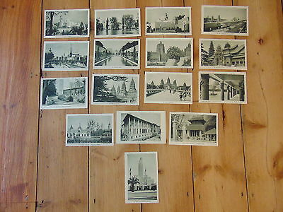 EXPOSITION COLONIALE INTERNATIONALE - PARIS - Vintage postcards 1931  - 16 cards