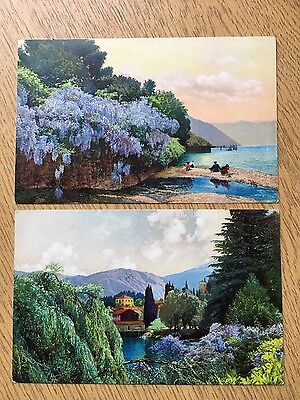 2 x  photochrome postcards of  Italy - Bellagio and San Giovanni