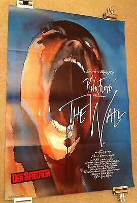Pink Floyd The Wall - Original German A1 Movie Poster - Classic Scarfe Art!