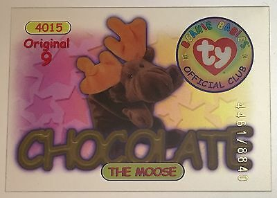 Chocolate the Moose Original 9 TY Beanie Trading Card Series 1 4461/8840 Red