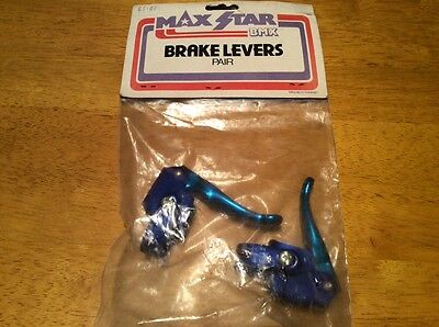 old school bmx NOS max star blue anodised brake levers