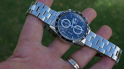 Tag Heuer Carrera Ref. CV2010-4 Steel Automatic Chronograph Mens 41mm Watch