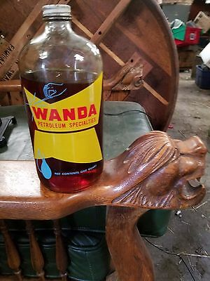 Vintage Wanda Oil Can Bottle,Cato Oil Co, Oklahoma City,Outboard,Farm,Automobile