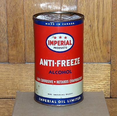 Early Canadian IMPERIAL anti-freeze 1 imperial quart not motor oil tin can ESSO