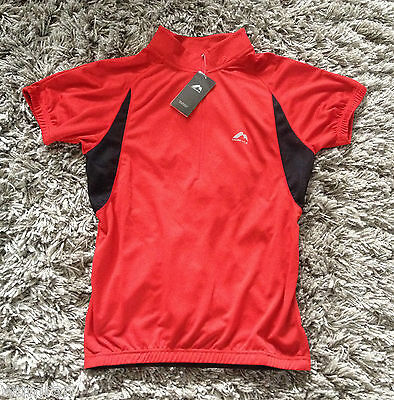 New More Mile Mens Short Sleeved Cycle Cycling Jersey Top - Half Zip - Size S