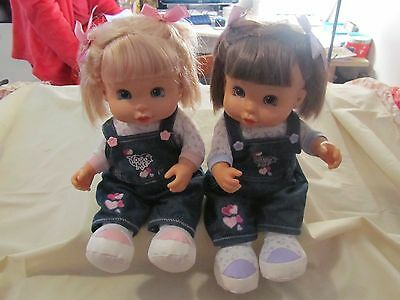 YOU & ME Talking Interactive Twin Dolls ToysRUS Retired Blonde & Brunette 2008 #