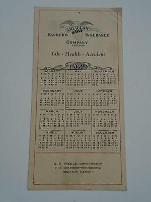 1929 American Bankers Life Insurance Company Advertising Calender