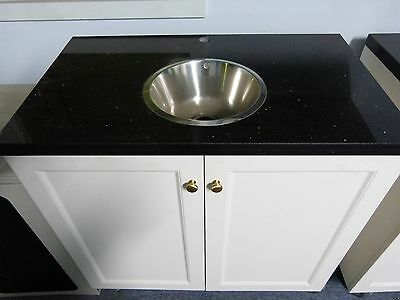 Marble top kitchen sink cabinet with stainless steel sink