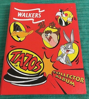 WALKER TAZO FOLDER LOONEY TUNES Collector Album - 63/70 Tazos