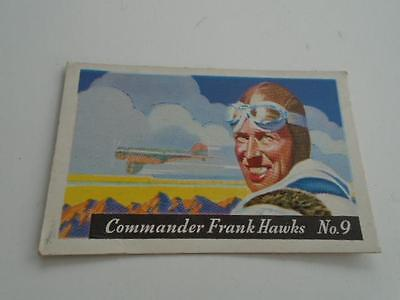 Vintage HJ Heinz Breakfast Cereal Famous Airplane Frank Hawks No 9 Trading Card