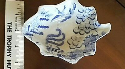 Antique Pottery Pearlware? Blue Transfer Pickle Dish Blue White