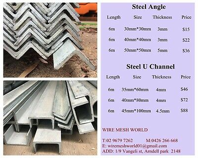 New Hot Dipped Galvanized 6M Length * 50Mm Angle Bar